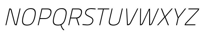 Panefresco 1wt Italic Font UPPERCASE