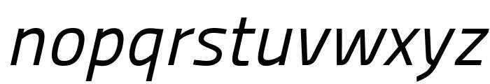Panefresco 400wt Italic Font LOWERCASE