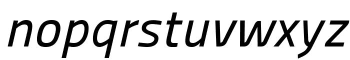 Panefresco 500wt Italic Font LOWERCASE