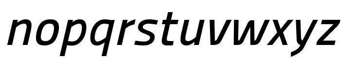 Panefresco 600wt Italic Font LOWERCASE
