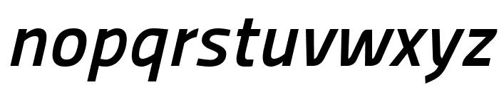 Panefresco 750wt Italic Font LOWERCASE