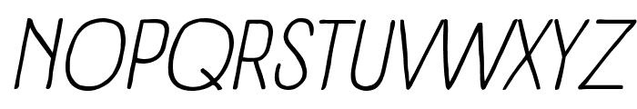 Panforte Pro Light Italic Font UPPERCASE