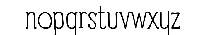 Panforte Serif Light Font LOWERCASE