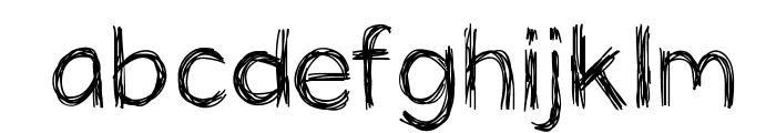 PanicStricken Font LOWERCASE