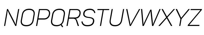 Panton Light italic Caps Font UPPERCASE