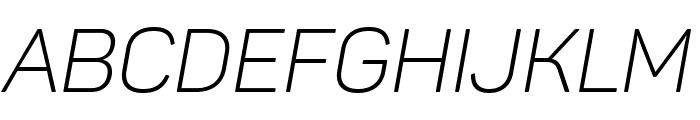 Panton Light italic Caps Font LOWERCASE