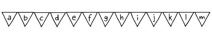Paper Banner Regular Font LOWERCASE