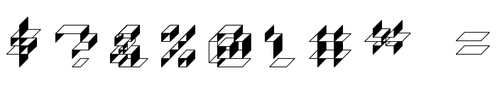 Paper Cube - Box version Font OTHER CHARS