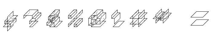 Paper Cube *cube version*Regular Font OTHER CHARS