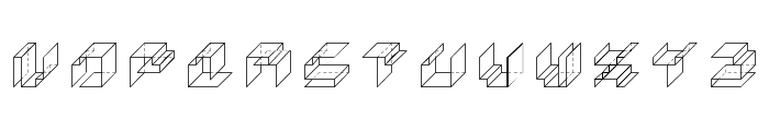 Paper Cube *cube version*Regular Font LOWERCASE
