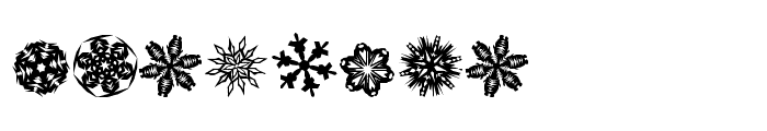 Paper Snowflakes Font UPPERCASE