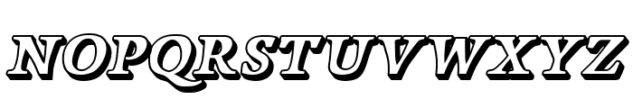 Papillons Outline Italic Font LOWERCASE