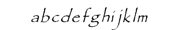 Paradox Italic Font LOWERCASE