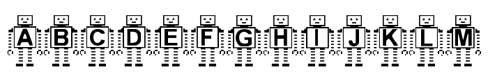 Paranoid Android Font UPPERCASE