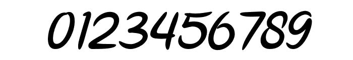 Parisien Night Oblique Font OTHER CHARS