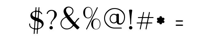 Parisish Font OTHER CHARS