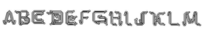 Park Tech CG Font UPPERCASE
