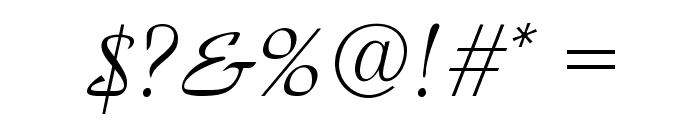 ParkAvenue Normal Font OTHER CHARS