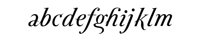 ParmaPetit-Italic Font LOWERCASE