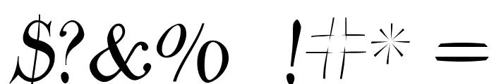 ParmaPetitFlyingRound Font OTHER CHARS