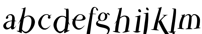 ParmaPetitFlyingRound Font LOWERCASE