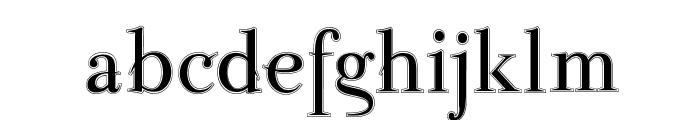 ParmaPetitOutline Font LOWERCASE