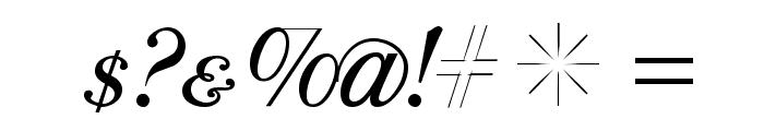 ParmaPetitSCItalic Font OTHER CHARS