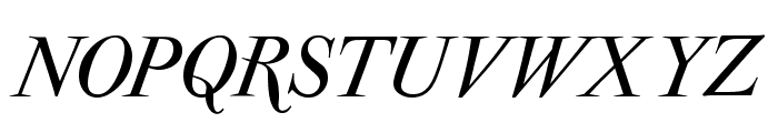 ParmaPetitSCItalic Font UPPERCASE