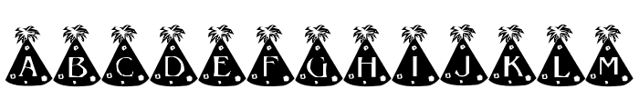 Party Hats Font LOWERCASE