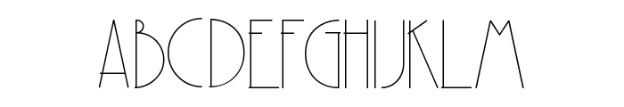 Party at Gatsby's Regular Font UPPERCASE