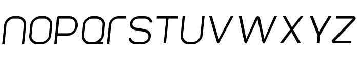 Parvoflavin Light Skew Font LOWERCASE