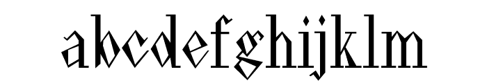 Pasdecourbe Font LOWERCASE