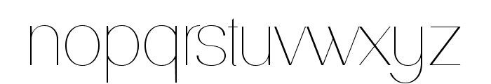 PassionSansPDaa-Hairline Font LOWERCASE