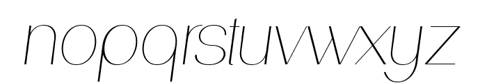 PassionSansPDab-HairlineItalic Font LOWERCASE