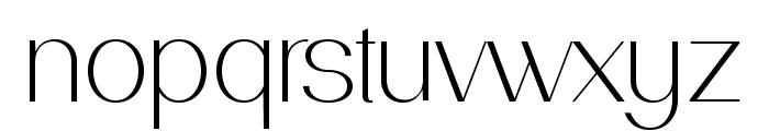 PassionSansPDac-Light Font LOWERCASE