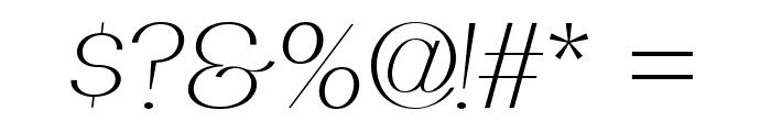 PassionSansPDad-LightItalic Font OTHER CHARS