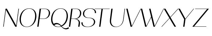 PassionSansPDad-LightItalic Font UPPERCASE