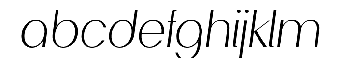 PassionSansPDad-LightItalic Font LOWERCASE