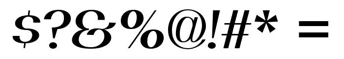 PassionSansPDaj-SemiBoldItalic Font OTHER CHARS