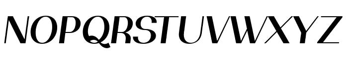 PassionSansPDaj-SemiBoldItalic Font UPPERCASE