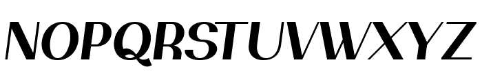 PassionSansPDal-BoldItalic Font UPPERCASE