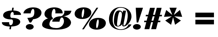 PassionSansPDar-BlackItalic Font OTHER CHARS