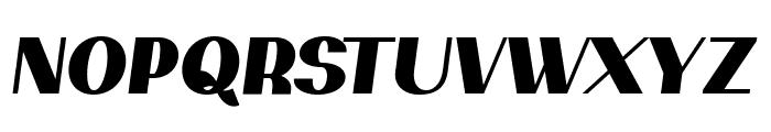 PassionSansPDar-BlackItalic Font UPPERCASE