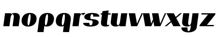 PassionSansPDar-BlackItalic Font LOWERCASE