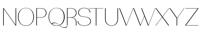PassionSansPDba-HairlineSmallCaps Font UPPERCASE
