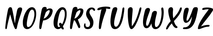 PassiontoActionSlant Font UPPERCASE