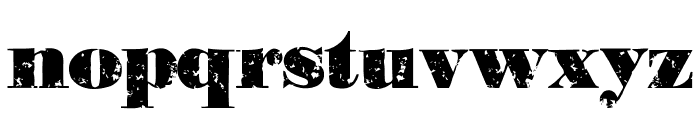 PastDue Font LOWERCASE
