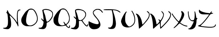 PataquesBrush Font UPPERCASE