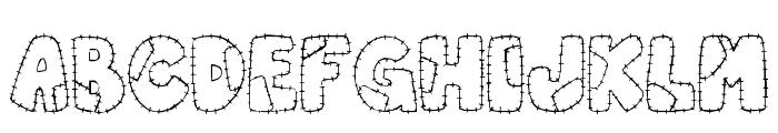 Patchwork Letter Font UPPERCASE