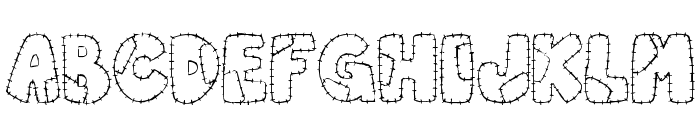 Patchwork Letter Font LOWERCASE
